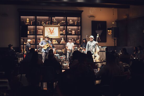 Ozomatli recording live for their album during our Grand Opening before playing at the Greek the following month.   Ozomatli is an American six-piece band playing primarily Latin, hip hop, and rock music, formed in 1995 in Los Angeles. They are known both for their vocal activist viewpoints and their wide array of musical styles – including salsa, jazz, funk, reggae, rap, and others