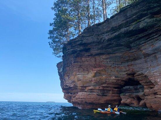 Kayaking through the keyhole.