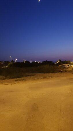 Belek beach park ın gece görünümü