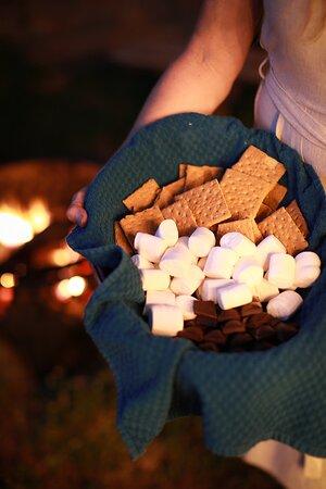 enjoy organic s'mores around the fire