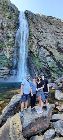 Cachoeira da casca d'anta, 186 metros de queda livre de água