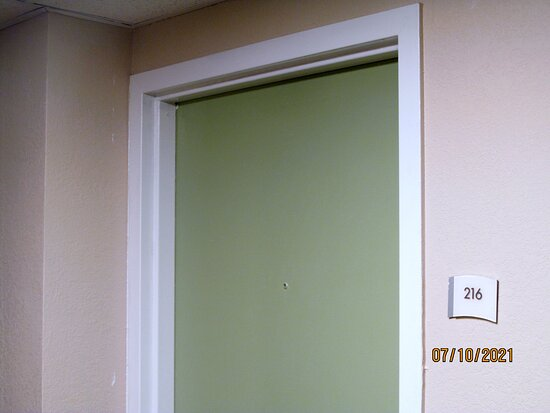 Outside of Room #216.