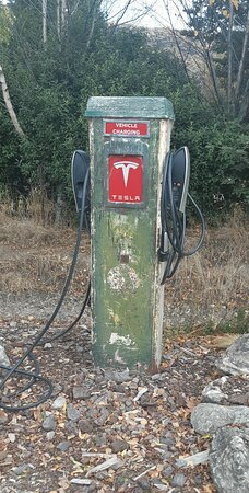 Tesla charging station we found on the side of the road