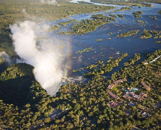 Aerial View of Avani Victoria Falls Resort and the Victoria Falls