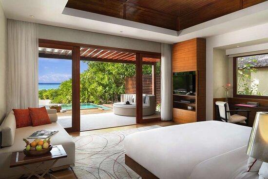 Family Beach Pool Villa bedroom with ocean view
