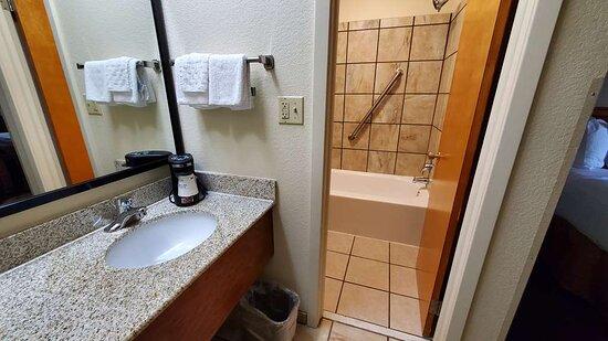 One Queen Room Guest Bathroom