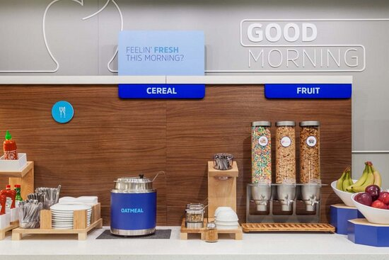 Hot & cold cereal every day plus fresh whole fruit for breakfast.