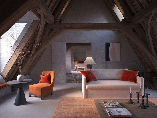 Suite 1 Bedroom Living area