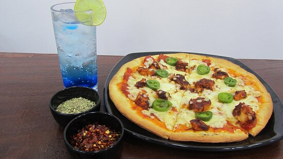 Pizza With Mocktail