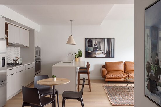 Two Bedroom Apartment Kitchen and Living
