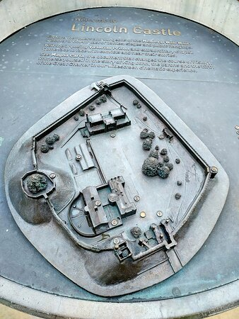 Layout model of Lincoln Castle (04/Jul/21).