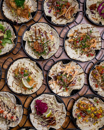 A few of our tacos from above. Best enjoyed on Taco Tuesday, when all of our tacos are only $5!