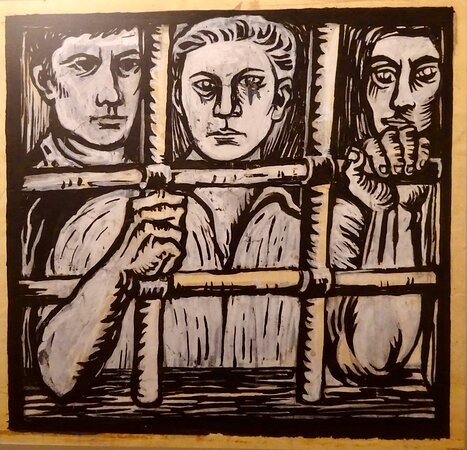 Political Prisoners. Drawing by José Dias Coelho. [1955-1959]