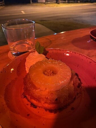 Their signature pineapple upside down cake.