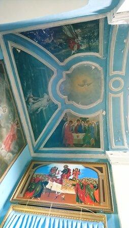 Церковь Успения Пресвятой Богородицы. Росписи северной стороны.