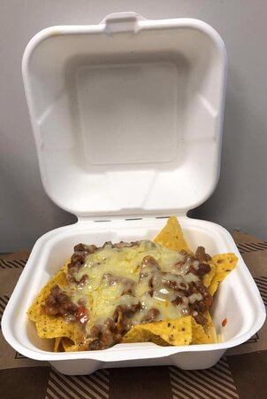 Chilli, cheese and nachos! jalapenos optional.