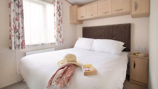 Master bedroom in an Economy caravan