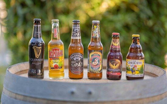 Sélection de bières bouteilles
