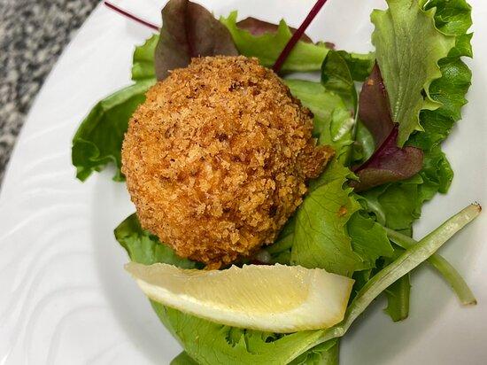 Entrée du Jour : Croquette de Crevettes «maison» Salade verte 🦐🦐🦐