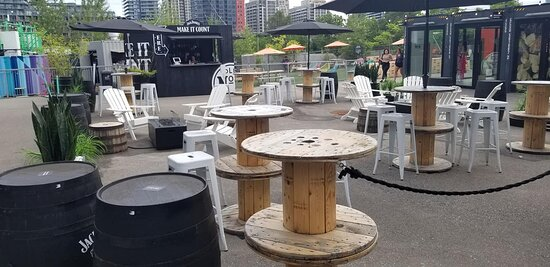 Yet another patio. The Jack Daniels one.