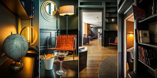 Villa C Hôtel**** bar, lounge, billard, cheminée
