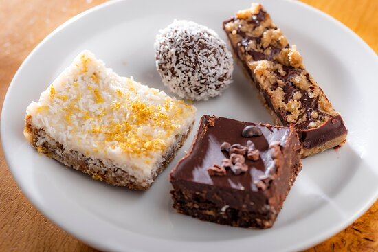 Vegan and Gluten Free and refined sugar free treats, made fresh in our kitchen!
