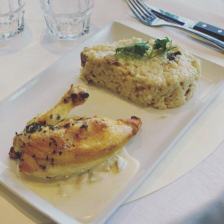 Poulet paillard & risotto