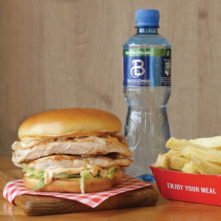 The original grilled chicken fillet burger - 180g chicken breast with 51g of protein