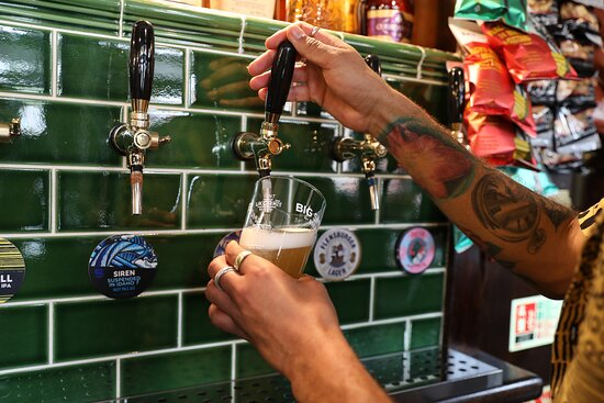 Beers on tap!