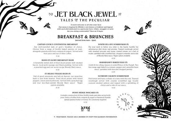 Breakfast & brunch menu available 8.30 - 2pm