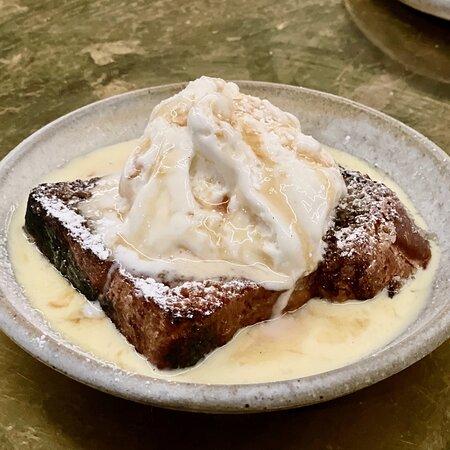 brioche dessert bread, maple, buttermilk, sherry, ice cream