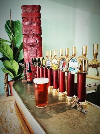 7 bières locales et 1 cidre bio