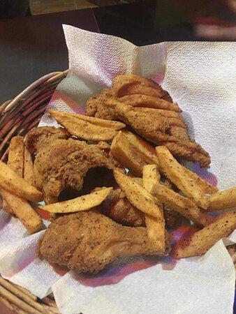 Chicken in a Basket- The BEST Fried Chicken in town!
