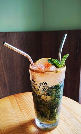 Une belle carte de cocktail, comme le fameux Mojito