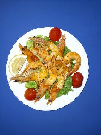 Grill shrimps