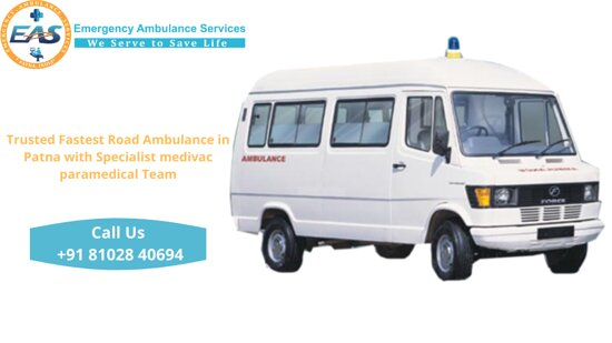 Emergency Ambulance Services has expert doctors and experienced paramedical staff who provide symptomatic treatment and expert medical care while on the way during transportation of critically ill patients in our private Ambulance Services from Patna with ICU facilities in case of emergency.