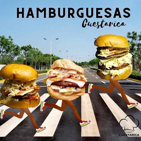 ¡Las hamburguesas de Cuestarica salieron corriendo!🏃♂️🏃♀️🍔🔥 ¡Ve y corre por la tuya antes de que se te escape!🔥🍔🏃♀️🏃♂️😄