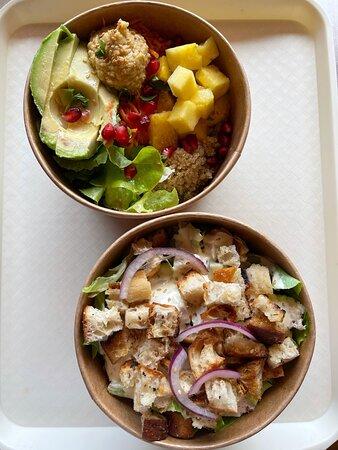 La Fresh Salad et la Salade Cesar