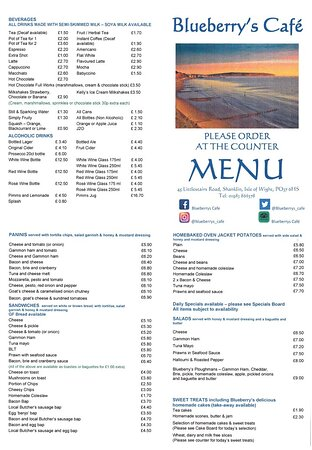 Licensed menu Summer 2021