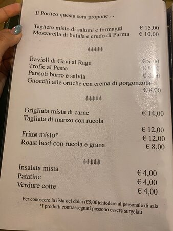 Carrosio, Ιταλία: menu