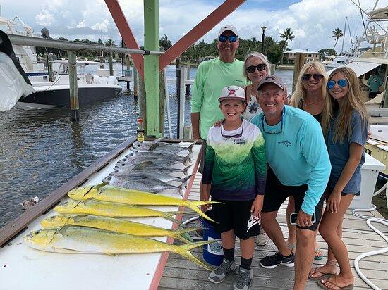 Stuart, FL: Another great day aboard the First Draw catching mahi-mahi and blackfin tuna.