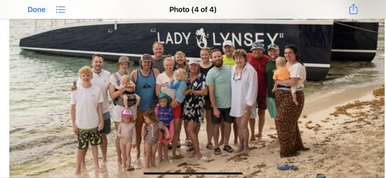 Family trip =21 members of our family - two children and spouses, five grandchildren-four with spouses and six great grandchildren plus one on the way.