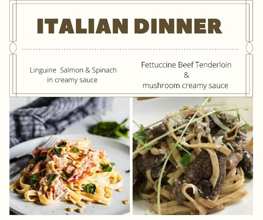 Pasta, pasta, pasta … and so much more in our menu! See you tonight.
