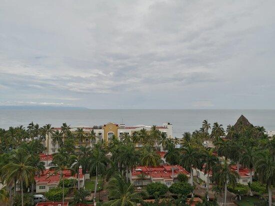 Vista desde séptimo piso, habitación de lujo vista al mar.