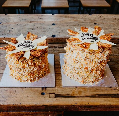 Almond croissant cake - made to order in 2 sizes by our talented pastry chefs!