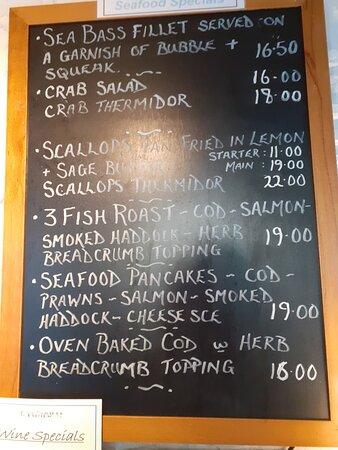 Fish specials board