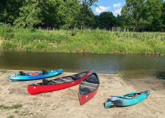 Ontario, WI: We have the best launch to safely get our customers on the Kickapoo River.