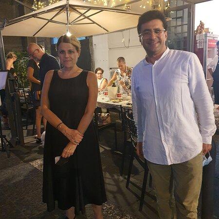 Con Tosca Donati, cantante e attrice. Bravissima. Al 53, il Cuore in un Piatto!