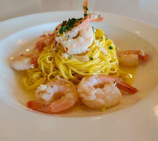 Garlic Shrimp Tagliolini