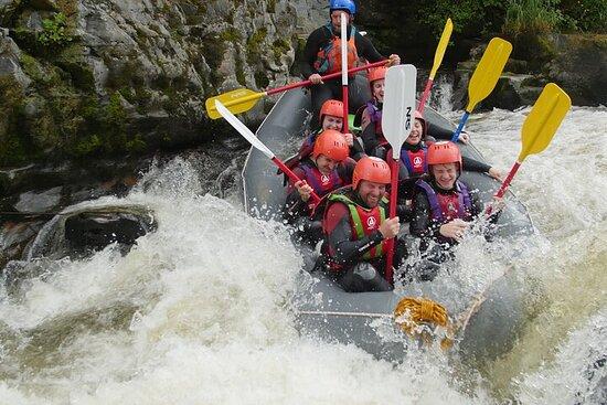 Aventure de rafting en eaux vives à Llangollen